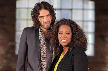 Russell Brand and Oprah Winfrey