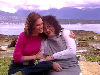 Hilary Swank and her mother, Judy