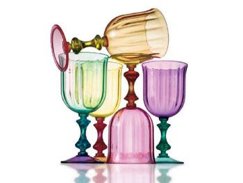 Plastic Venetian Goblets