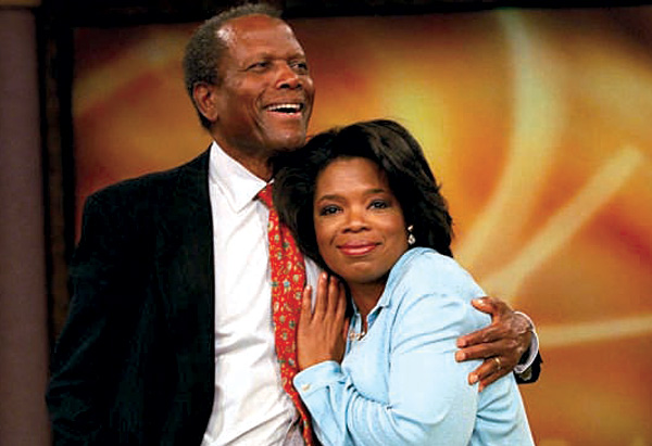Sidney Poitier and Oprah