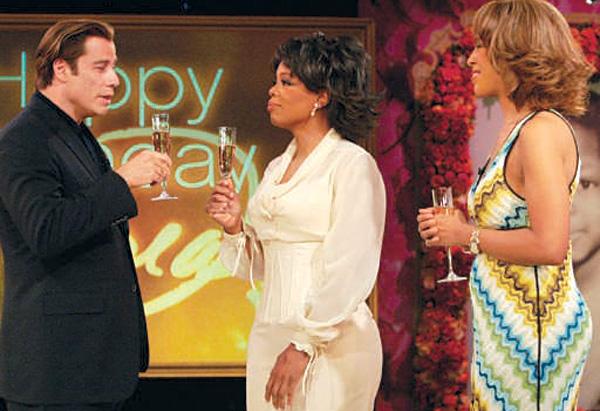 John Travolta, Oprah and Gayle