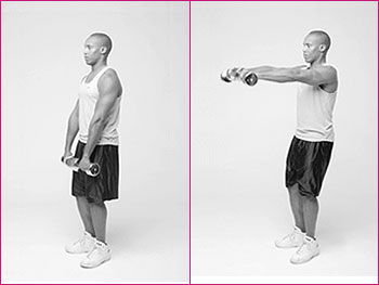 Frontal raise exercise