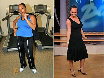 Stacey Moses, after Oprah's Boot Camp