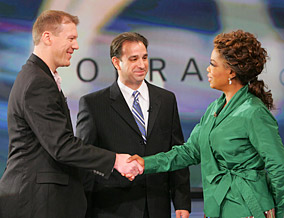 Mark Monteilh, Dr. Tim Miller and Oprah