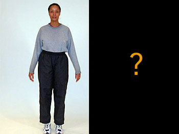 Michelle in elastic-waistband pants