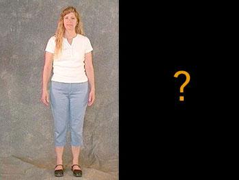 Kaye in cropped pants