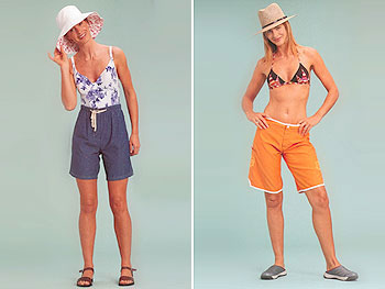 Trinny models shorts