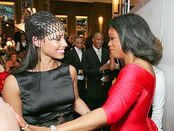 Alicia Keys and Oprah. Copyright 2005, Harpo Productions, Inc./George Burns & Bob Davis.