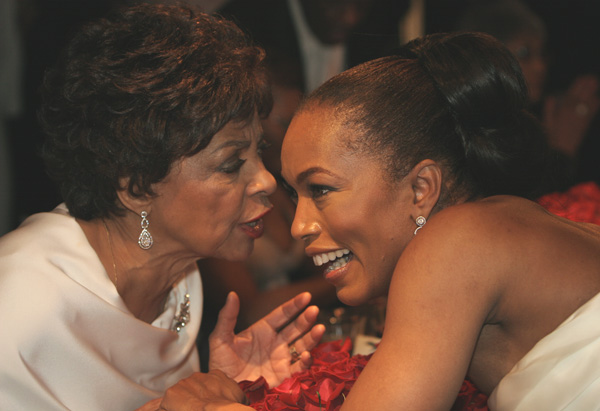 Ruby Dee and Angela Bassett