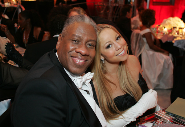 Andre Leon Talley and Mariah Carey