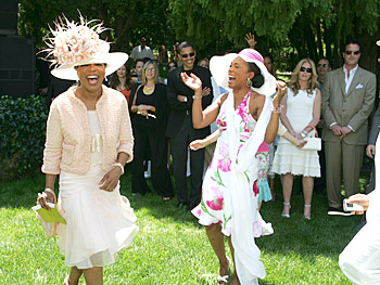 Oprah and Angela Bassett. Copyright 2005, Harpo Productions, Inc./George Burns & Bob Davis. All rights reserved.
