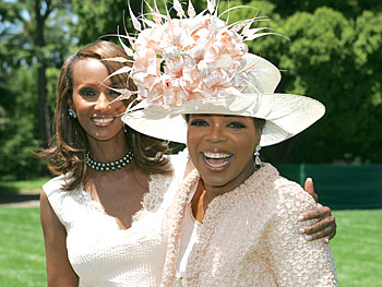 Iman and Oprah. Copyright 2005, Harpo Productions, Inc./George Burns & Bob Davis. All rights reserved.