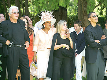 James Brolin, Oprah, Barbra Streisand, Nate Berkus and Barack Obama. Copyright 2005, Harpo Productions, Inc./George Burns & Bob Davis. All rights reserved.