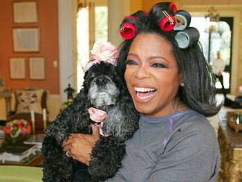 Oprah and her dog Sophie