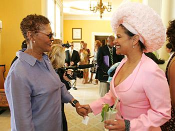 Dionne Warwick and Debbie Allen