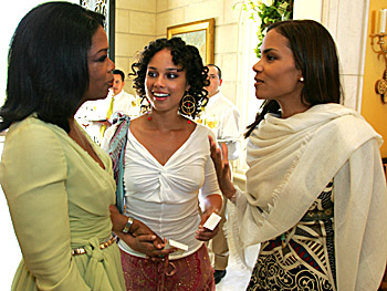 Oprah, Alicia Keys and Halle Berry