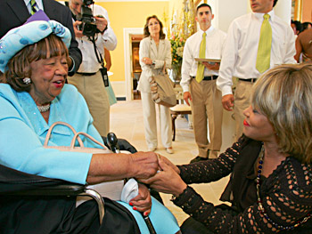 Dorothy Height and Tina Turner