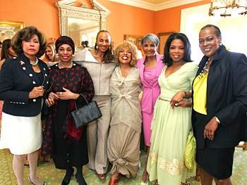 Diahann Carroll, Leontyne Price, Susan Taylor, Roberta Flack, Nancy Wilson, Oprah and Naomi Sims