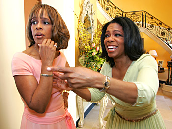 Gayle King and Oprah