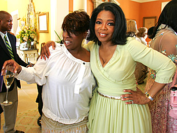 Missy Elliott and Oprah