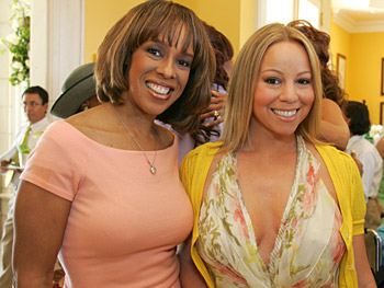 Gayle King and Mariah Carey