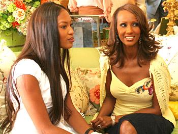 Naomi Campbell and Iman