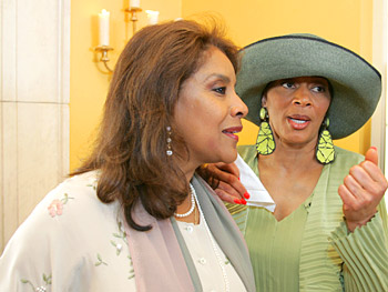 Phylicia Rashad and Terry McMillan