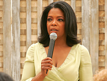 Oprah welcomes her guests