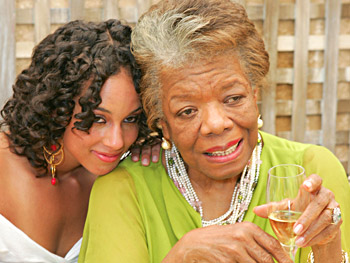 Alicia Keys and Maya Angelou