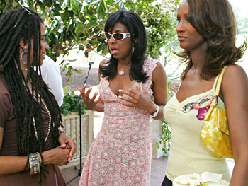 Suzan-Lori Parks, Natalie Cole and Iman