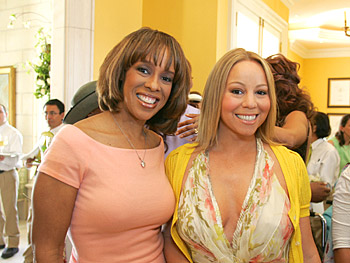 Gayle King and Mariah Carey. Copyright 2005, Harpo Productions, Inc./George Burns & Bob Davis. All rights reserved.