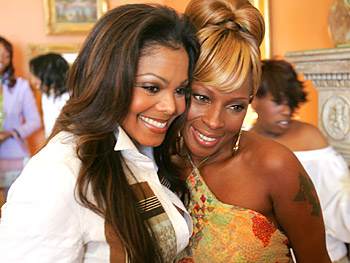 Janet Jackson and Mary J. Blige. Copyright 2005, Harpo Productions, Inc./George Burns & Bob Davis. All rights reserved.