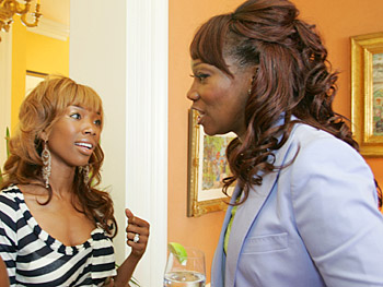 Brandy Norwood and Yolanda Adams. Copyright 2005, Harpo Productions, Inc./George Burns & Bob Davis. All rights reserved.