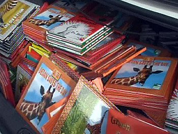 A trunk full of books for children