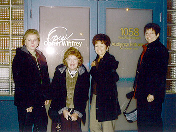 Judy, Georgia, Paula and Debbie before embarking on their challenge