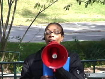 Melodie Richardson organizes an event for McDougald Terrace.