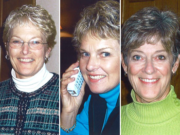 Sue Dixon, Diane Wood and Betsy Watson