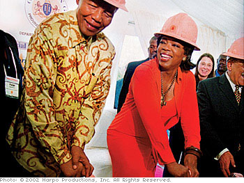 Oprah and Nelson Mandela