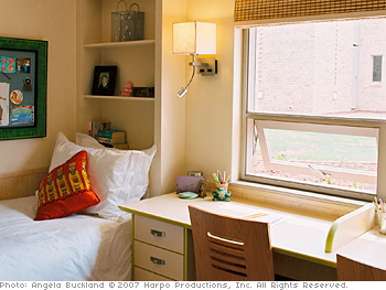 The girls' new bedrooms