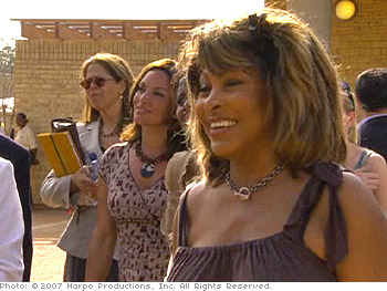 Tina Turner at the Leadership Academy in South Africa