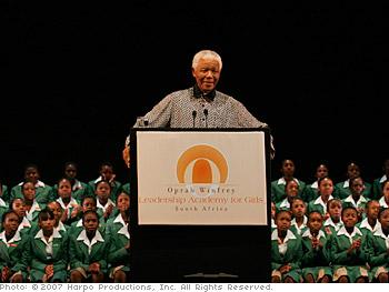 Former South Africa president Nelson Mandela