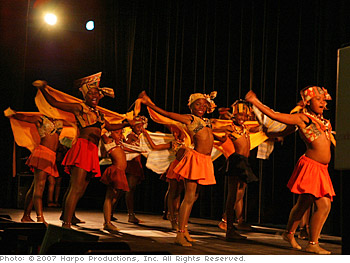 Dancers at Oprah's new school