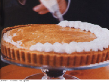 Low-Fat Pumpkin-Banana Mousse Tart