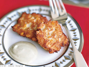 Corn and Crab Fritters with Garlic Aioli