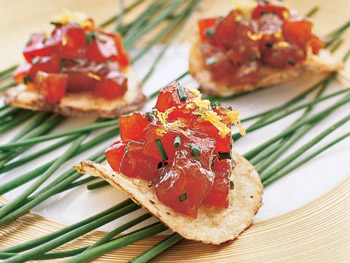 Tuna Tartare on Potato Chips
