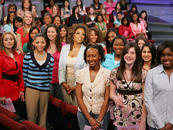 Oprah urges teenagers to join the O Girl, O Beautiful campaign.