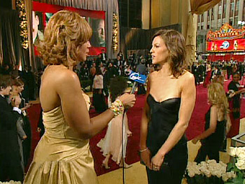 Hilary Swank in Versace