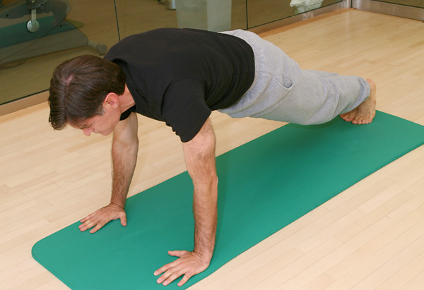 Return to Plank position