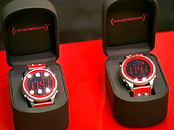 Armani's (PRODUCT) RED watches