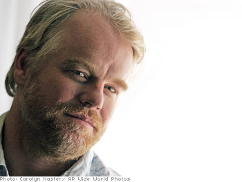Laura's nominated co-star, Philip Seymour Hoffman